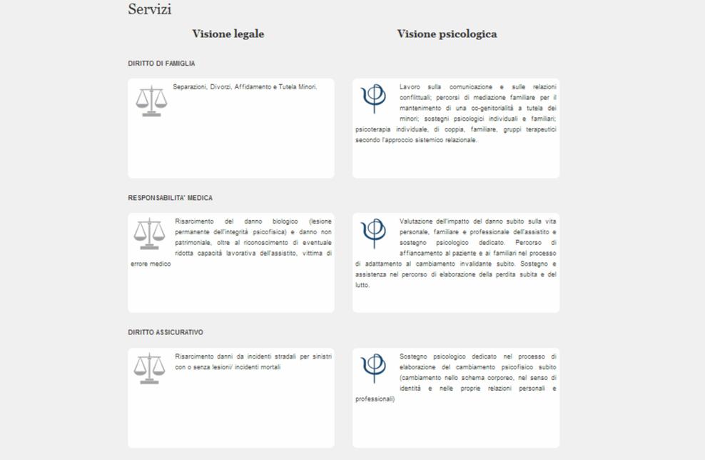 dettaglio pagina servizi