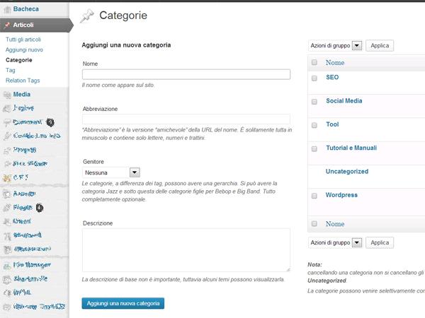 Categorie-wordpress