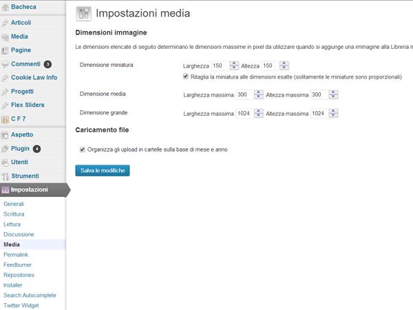wordpress-impostazioni-media